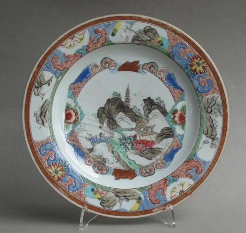 Chinese famille rose plate c 1740-50