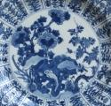 Chinese moulded blue and white plate, Kangxi - picture 2