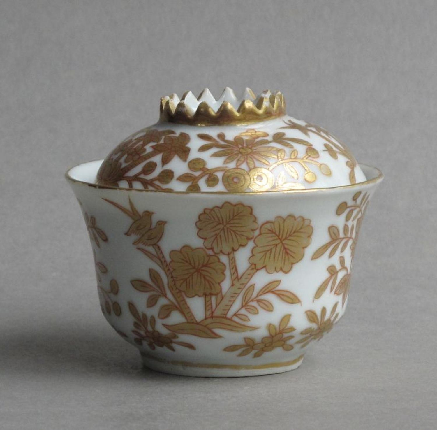 Fine European-decorated Chinese bowl & cover