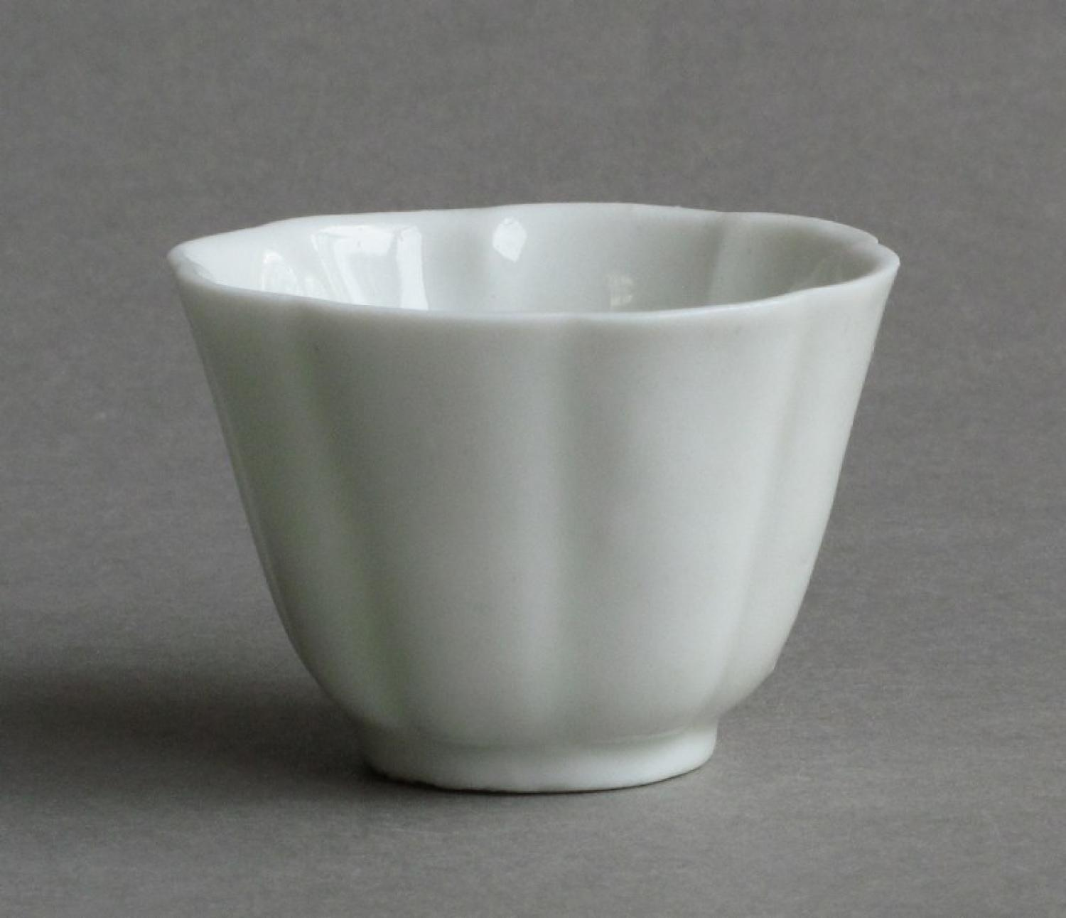Blanc de Chine fluted cup, Kangxi