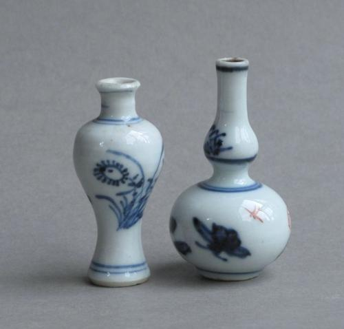2 miniature Chinese vases Kangxi