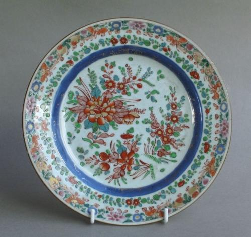 Chinese export plate with English decoration