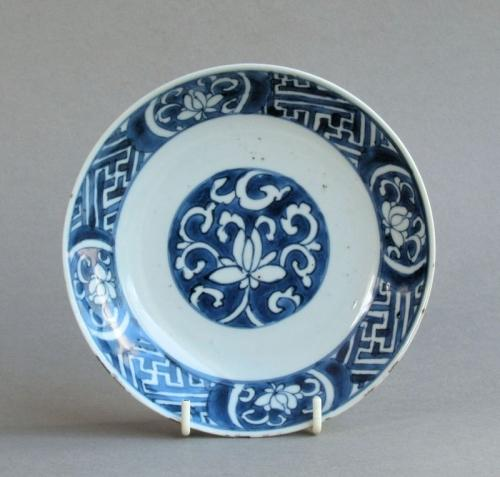 Late Ming lotus design dish, Tianqi