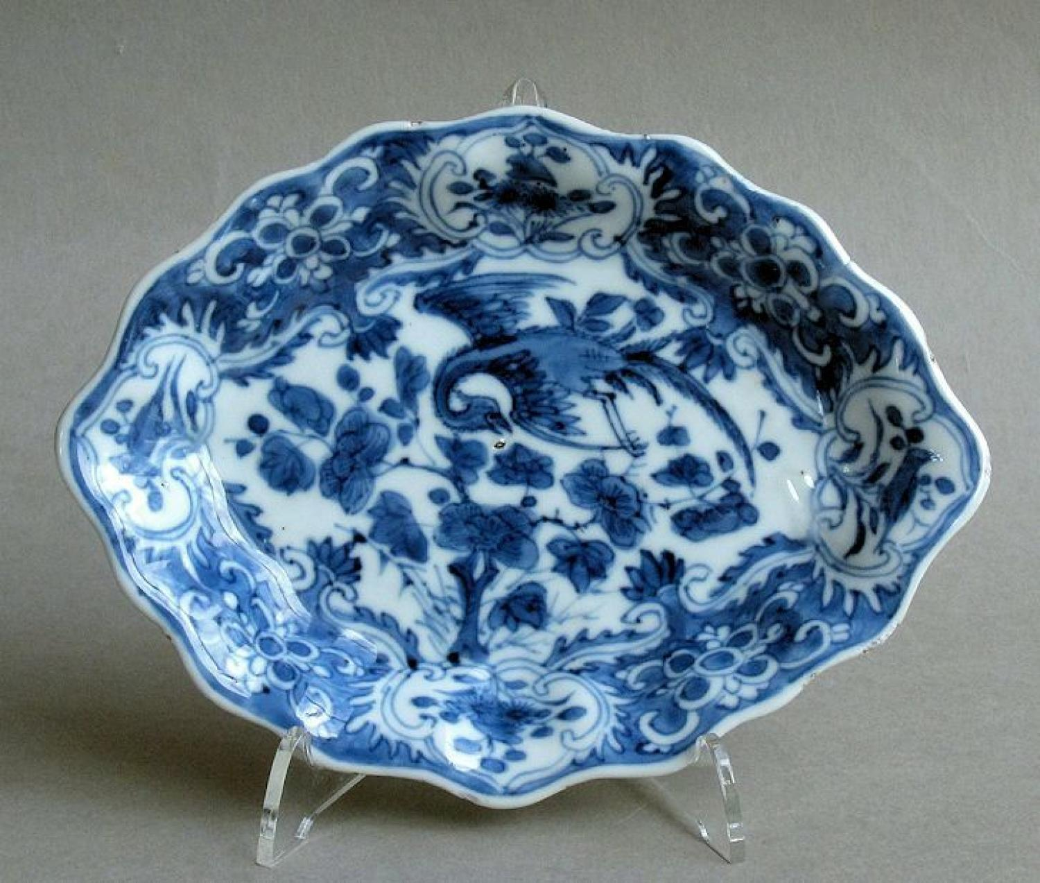 Small Chinese dish with shaped rim, Kangxi