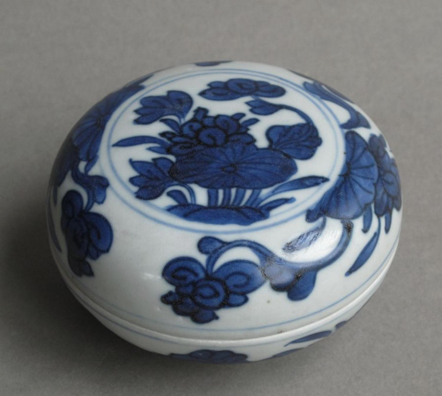Chinese shipwreck box and cover, Kangxi