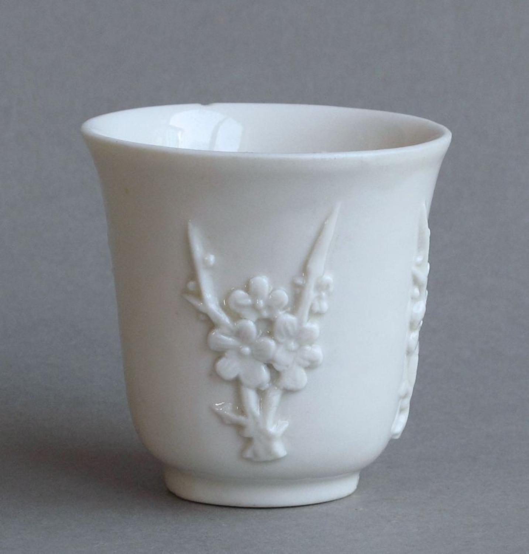 A Chinese blanc de Chine beaker, Shunzhi