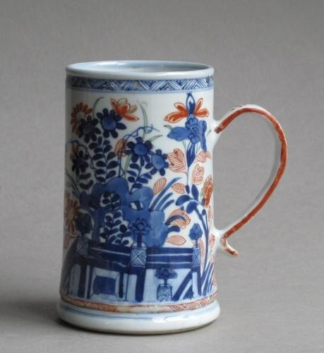 Dutch-decorated Chinese export tankard Kangxi
