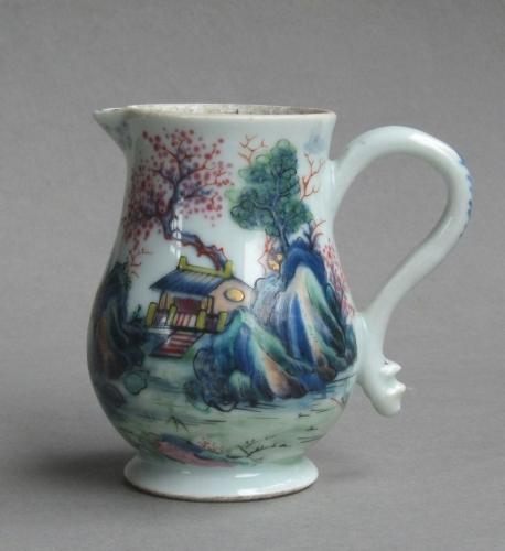Chinese export Stag Hunt cream jug