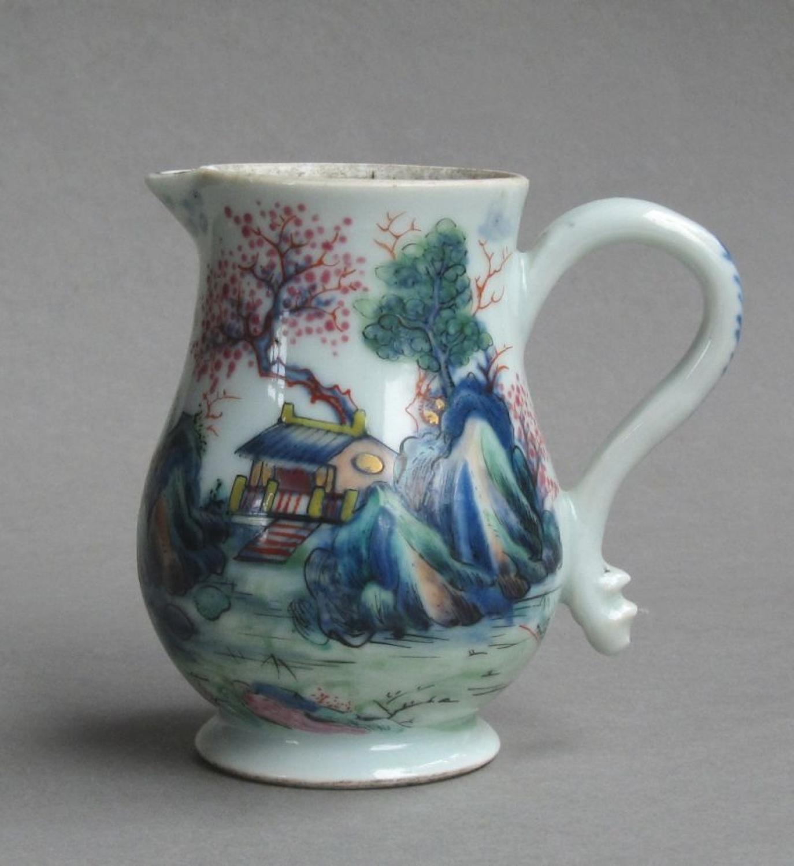 Chinese export Stag Hunt cream jug