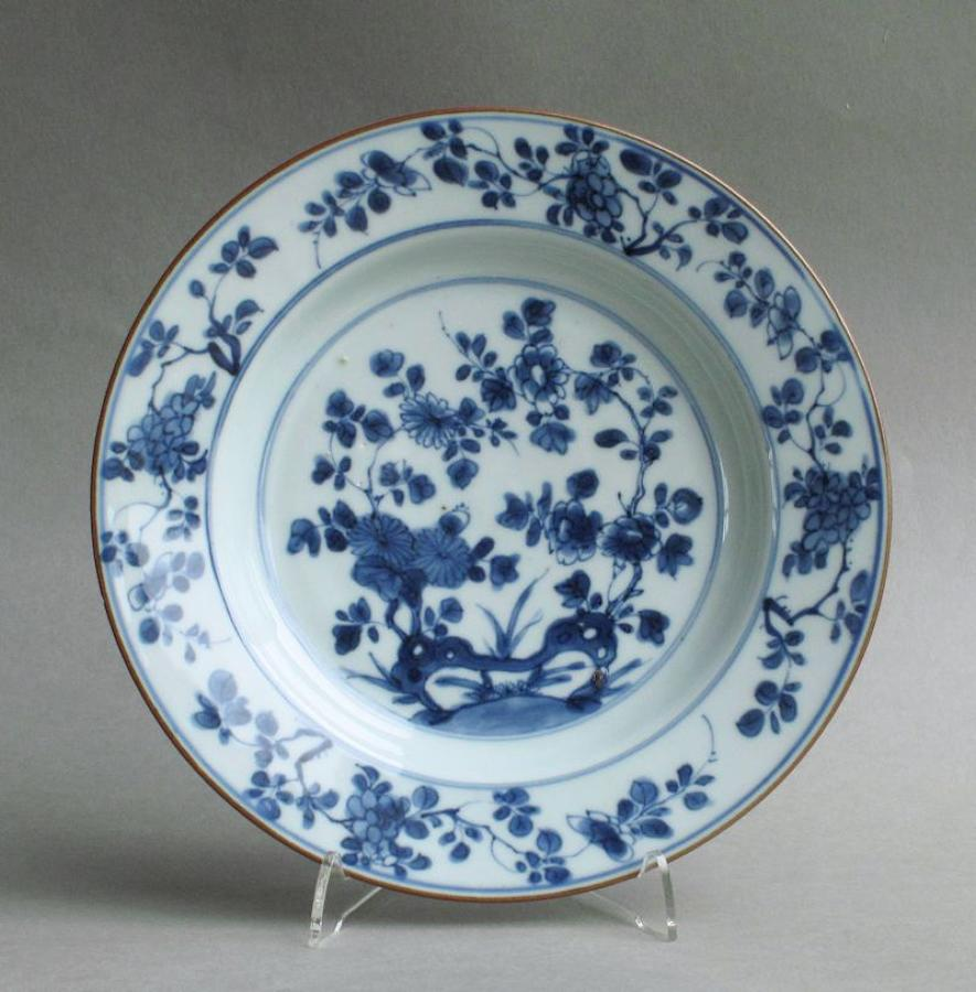 Chinese export floral plate, Yongzheng