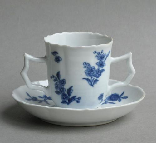 Chinese soft paste Chocolate cup & saucer