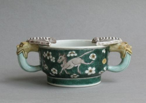 Chinese biscuit-decorated susancai cup