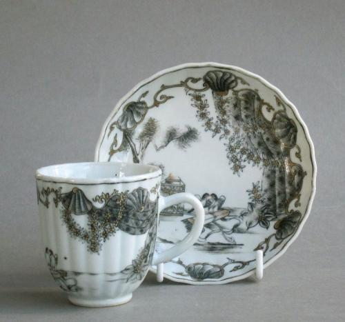 Chinese export Valentine cup & saucer c1760