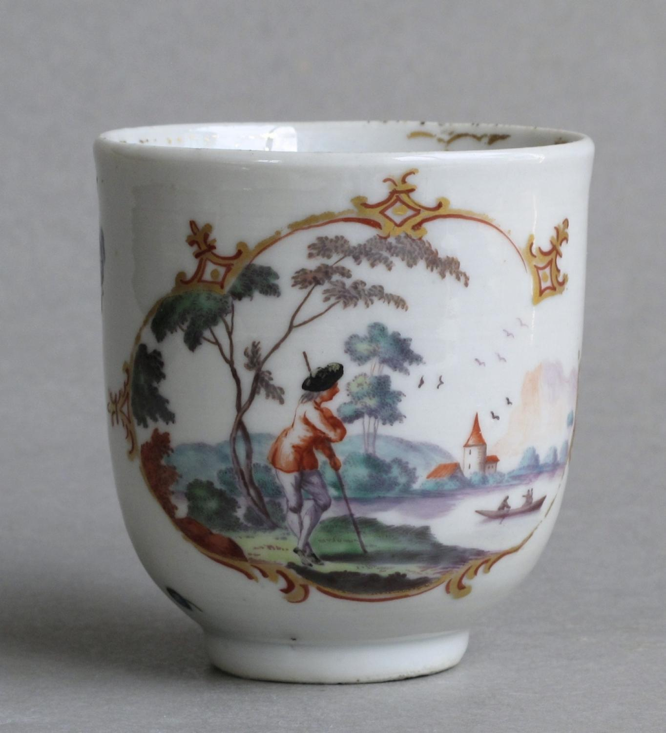London decorated Chinese export coffee cup