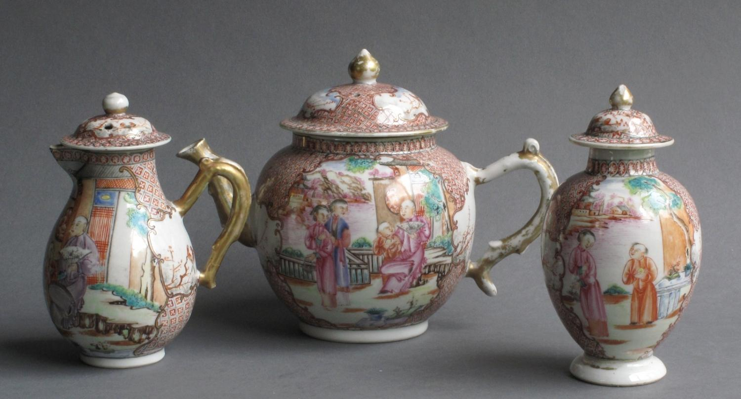 Chinese export famille rose set Qianlong