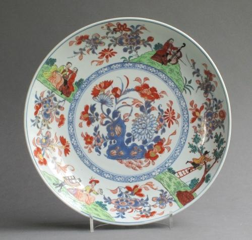 Good Cherry Picker & Music Party dish c1740