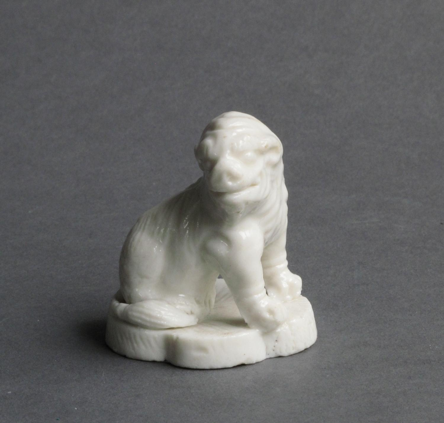 Small blanc de chine lion dog Kangxi