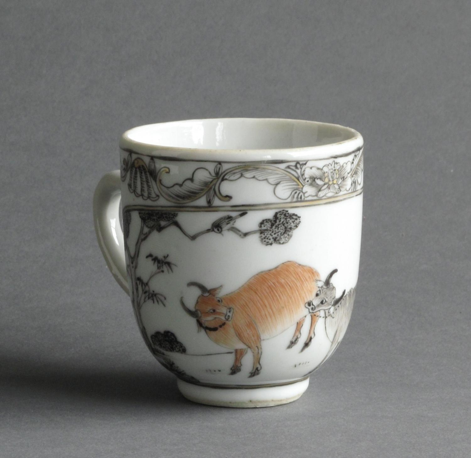Good Chinese grisaille coffee cup Qianlong