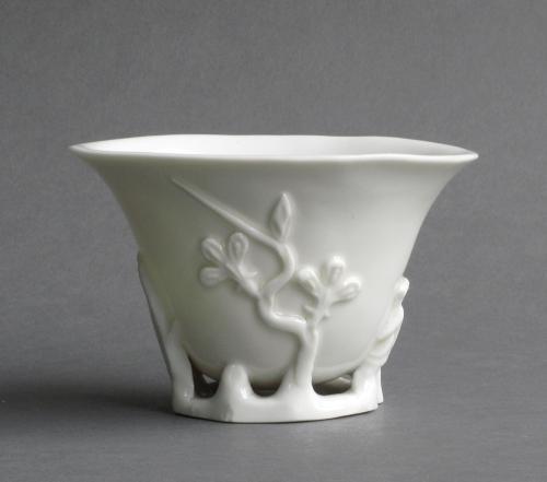 Chinese blanc de Chine libation cup, Kangxi