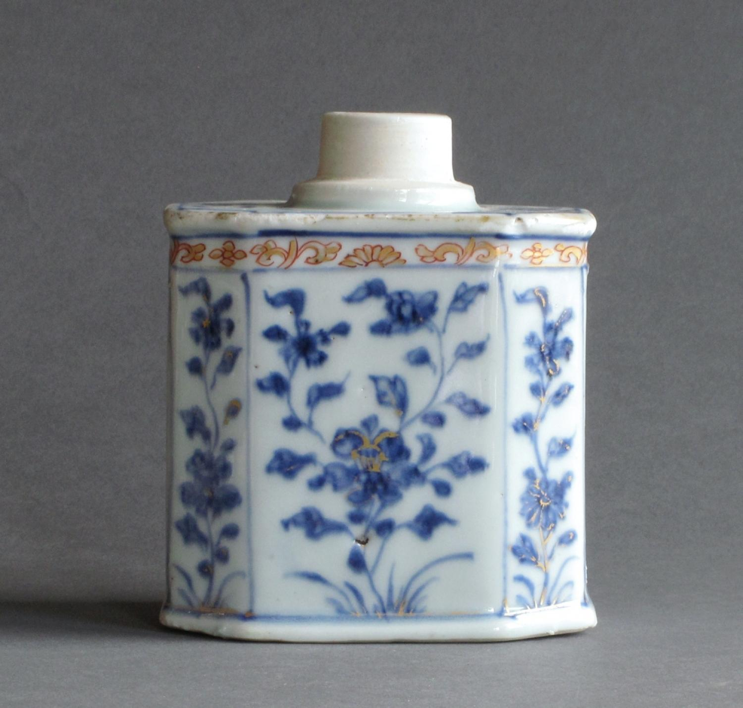 Chinese export tea canister c1720-35