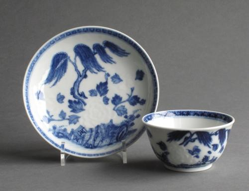 Chinese soft paste teabowl & saucer Qianlong