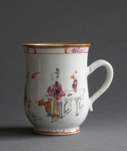 Chinese export famille rose tankard, Qianlong