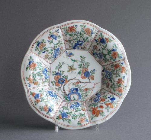 Good Chinese famille verte plate, Kangxi