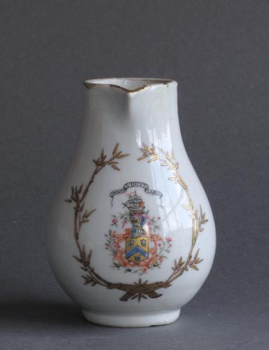 Chinese export armorial milk jug Qianlong