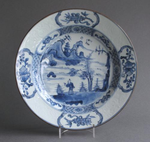 Unusual Chinese export plate, Yongzheng