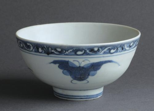 Chinese Wanli shipwreck butterfly bowl