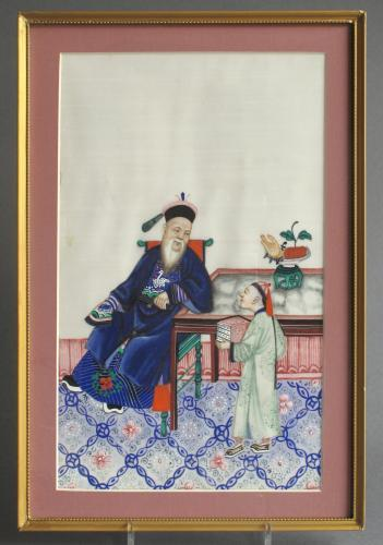 A good C19 Chinese pith picture (1 of 3)