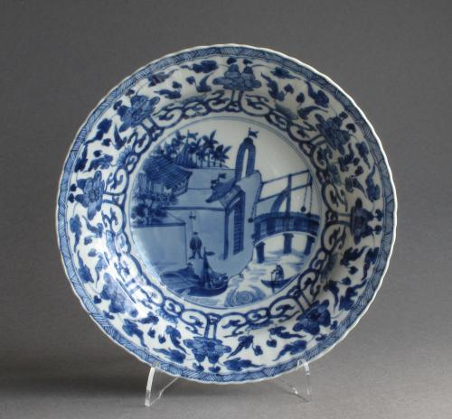 A Chinese European-subject plate, Kangxi