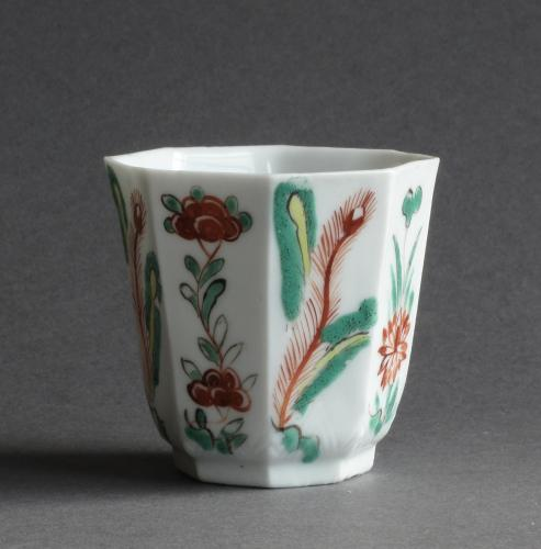 A London-decorated blanc de Chine cup, Kangxi