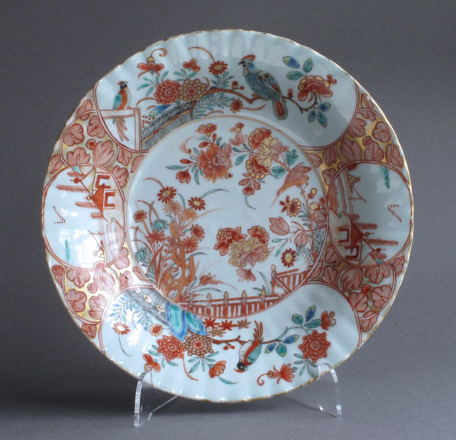 Dutch-decorated Chinese dish, Yongzheng
