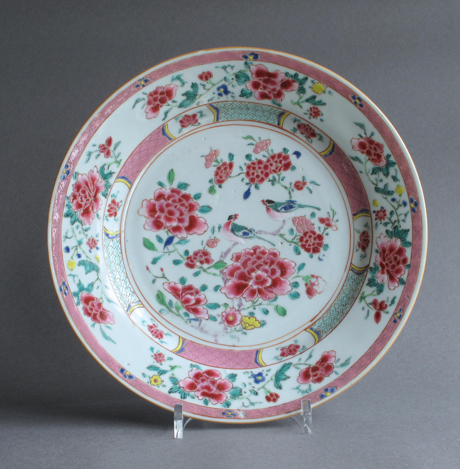 Chinese export famille rose plate, Qianlong