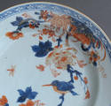 A Chinese Imari plate with Kingfisher - picture 3