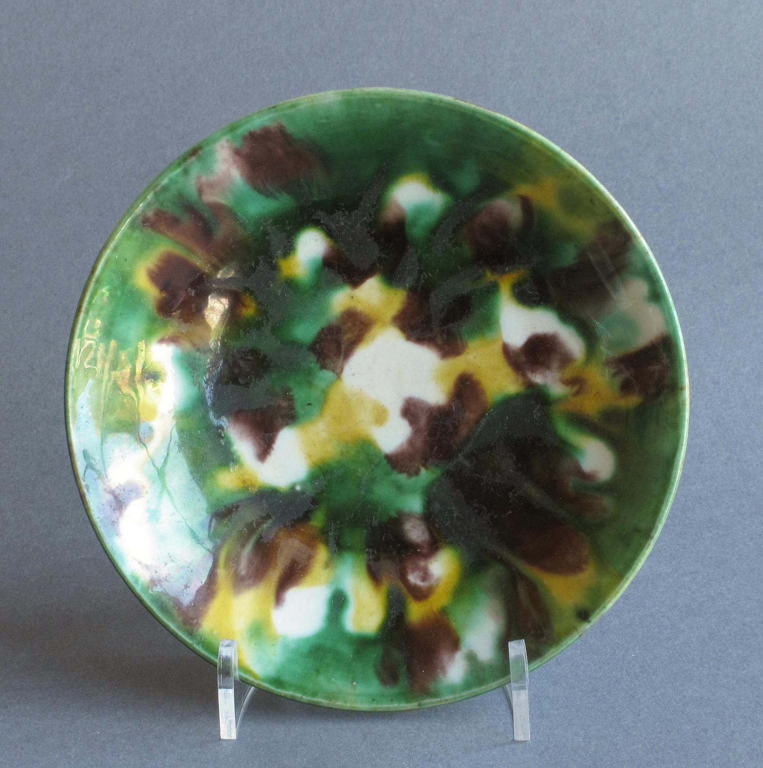 Chinese 'egg & spinach' saucer dish, Kangxi