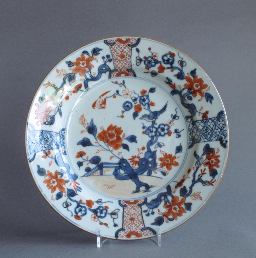 Chinese export Imari plate, Yongzheng