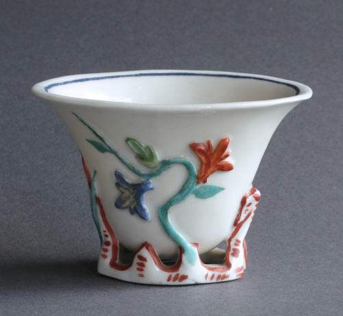 European-decorated Chinese blanc de Chine cup