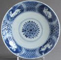 A Chinese late Ming dish with hares & horses - picture 2