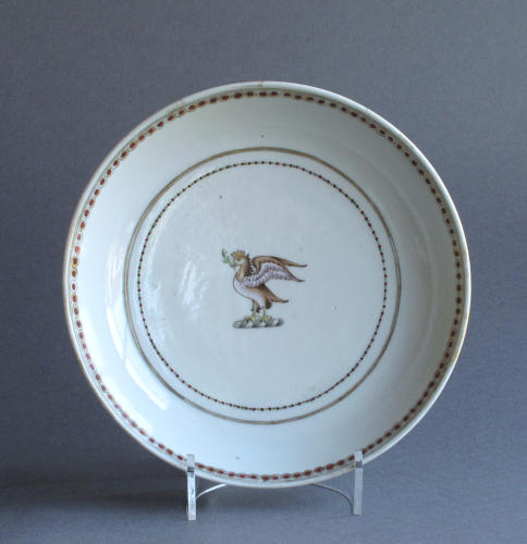 Small Chinese armorial dish, Qianlong