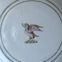 Small Chinese armorial dish, Qianlong - picture 2