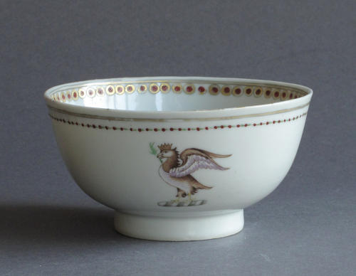 A small Chinese armorial bowl, Qianlong