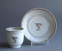 A Chinese armorial coffee cup & saucer Qianlong - picture 1