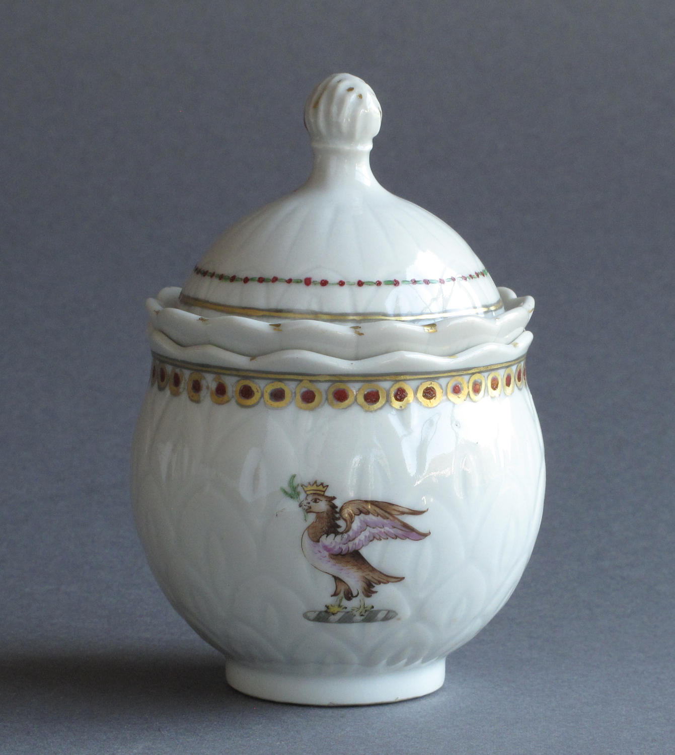 A Chinese armorial custard cup, Qianlong