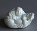 A Chinese white glazed Budai water dropper C18th - picture 3
