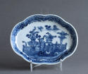 A Chinese export underglaze blue spoon tray, Qianlong - picture 1