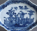 A Chinese export underglaze blue spoon tray, Qianlong - picture 2