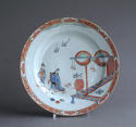 A Dutch-decorated Chinese plate with Japanese scene c1720 - picture 1