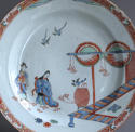 A Dutch-decorated Chinese plate with Japanese scene c1720 - picture 2